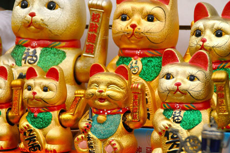 The use of the lucky cat