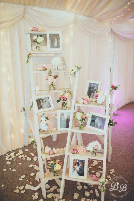 Decorated Room with Photo Frames